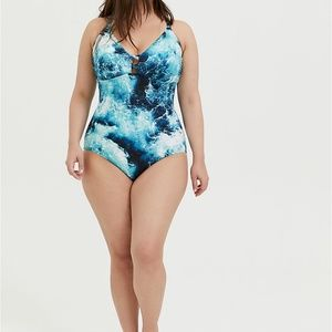 torrid Swim - Torrid Blue Swimsuit NWT